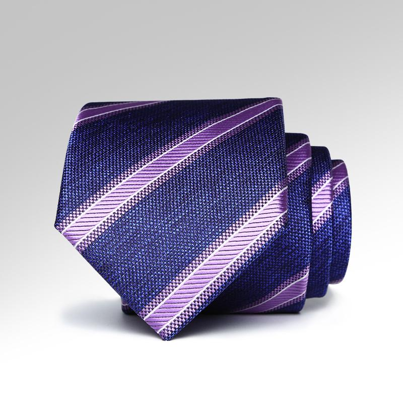Triple Striped Purple Tie