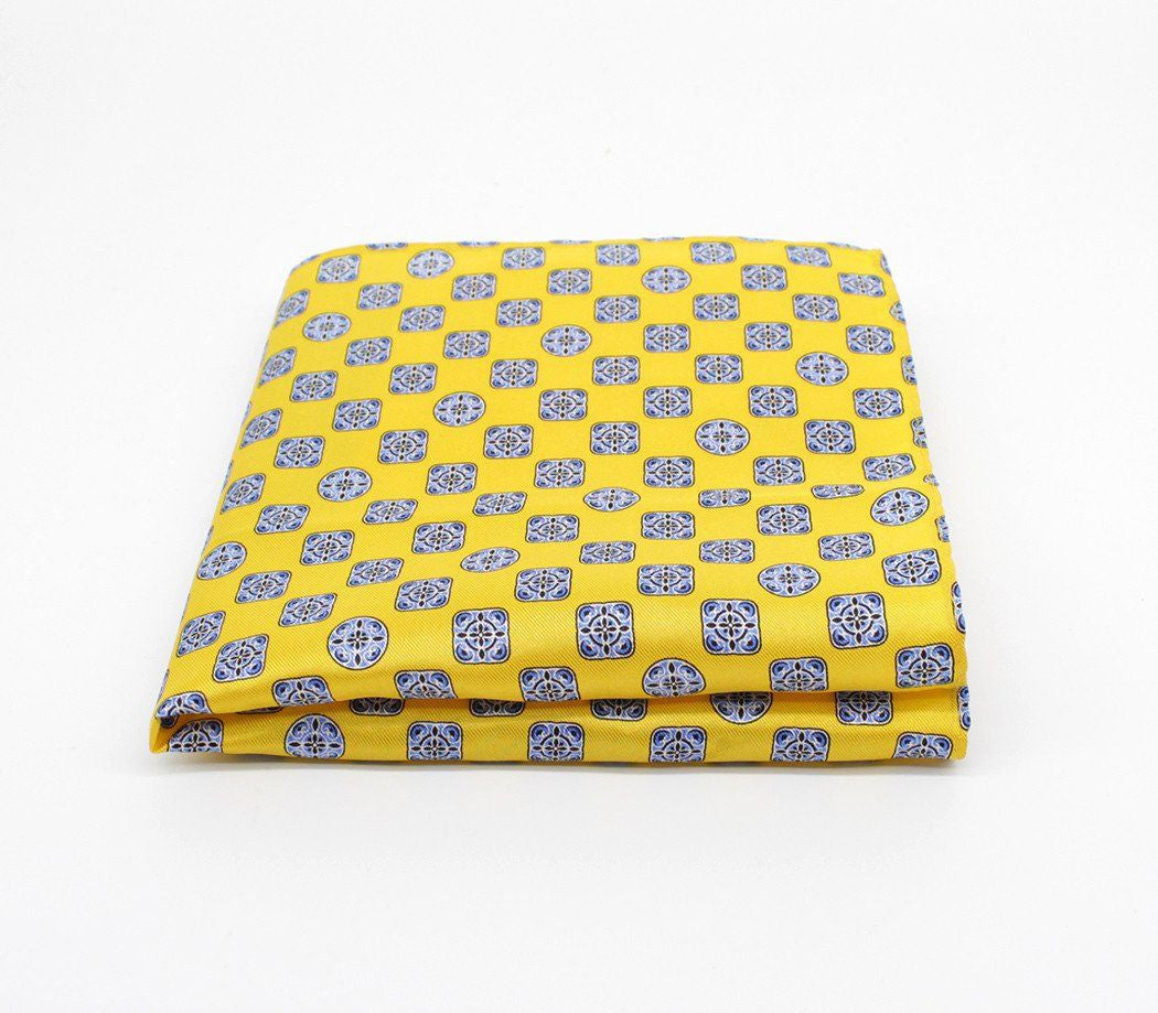 Sunny Yellow Silk Pocket Square