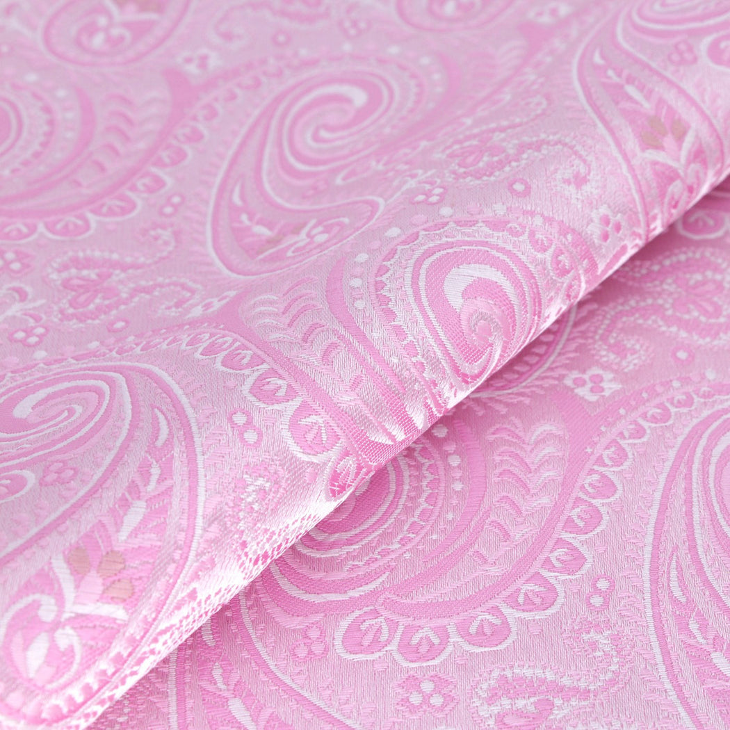 Taffy Pink Paisley Pocket Square