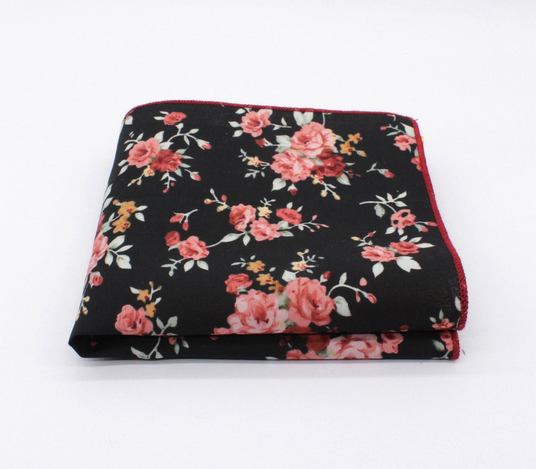Terror Black Flower Handkerchief