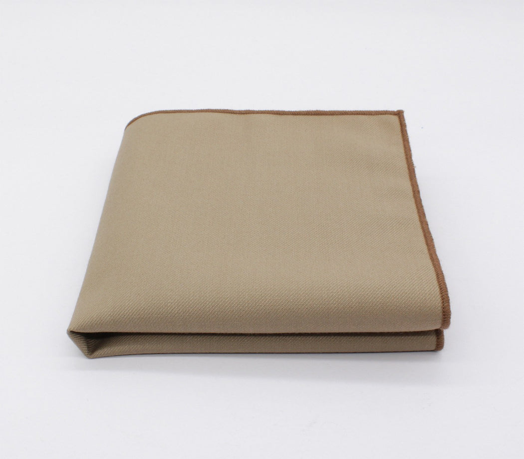 Tortilla Brown Solid Color Pocket Square