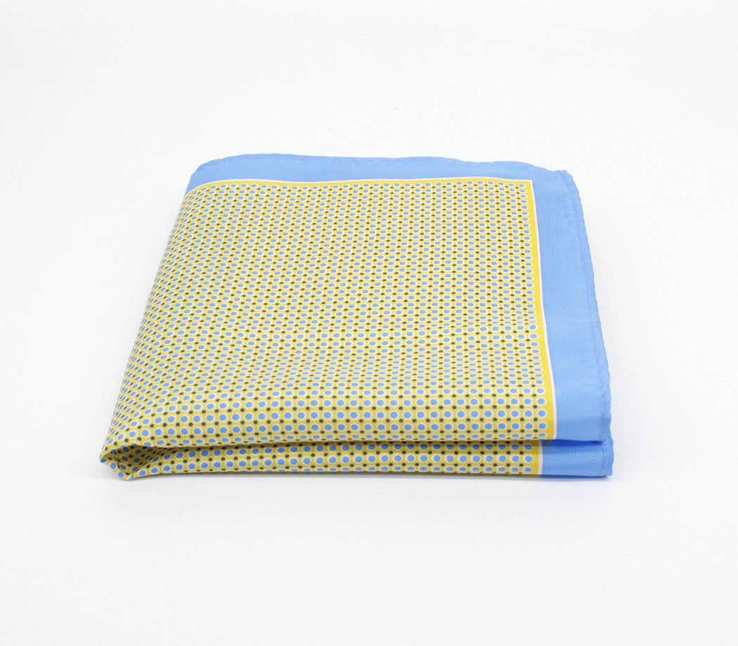Tranquil Blue Silk Pocket Square