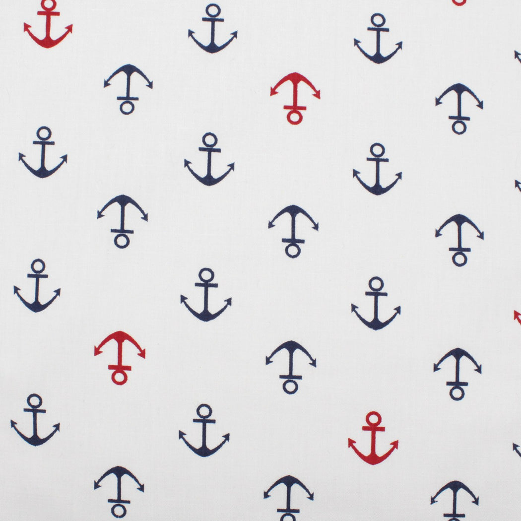 White Nautical Pattern Pocket Square