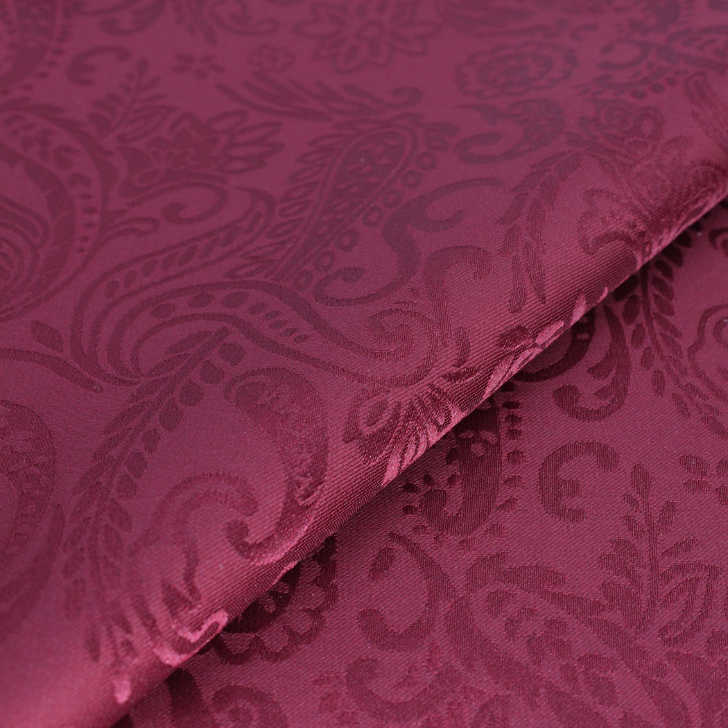 Wine Red Paisley Pocket Square