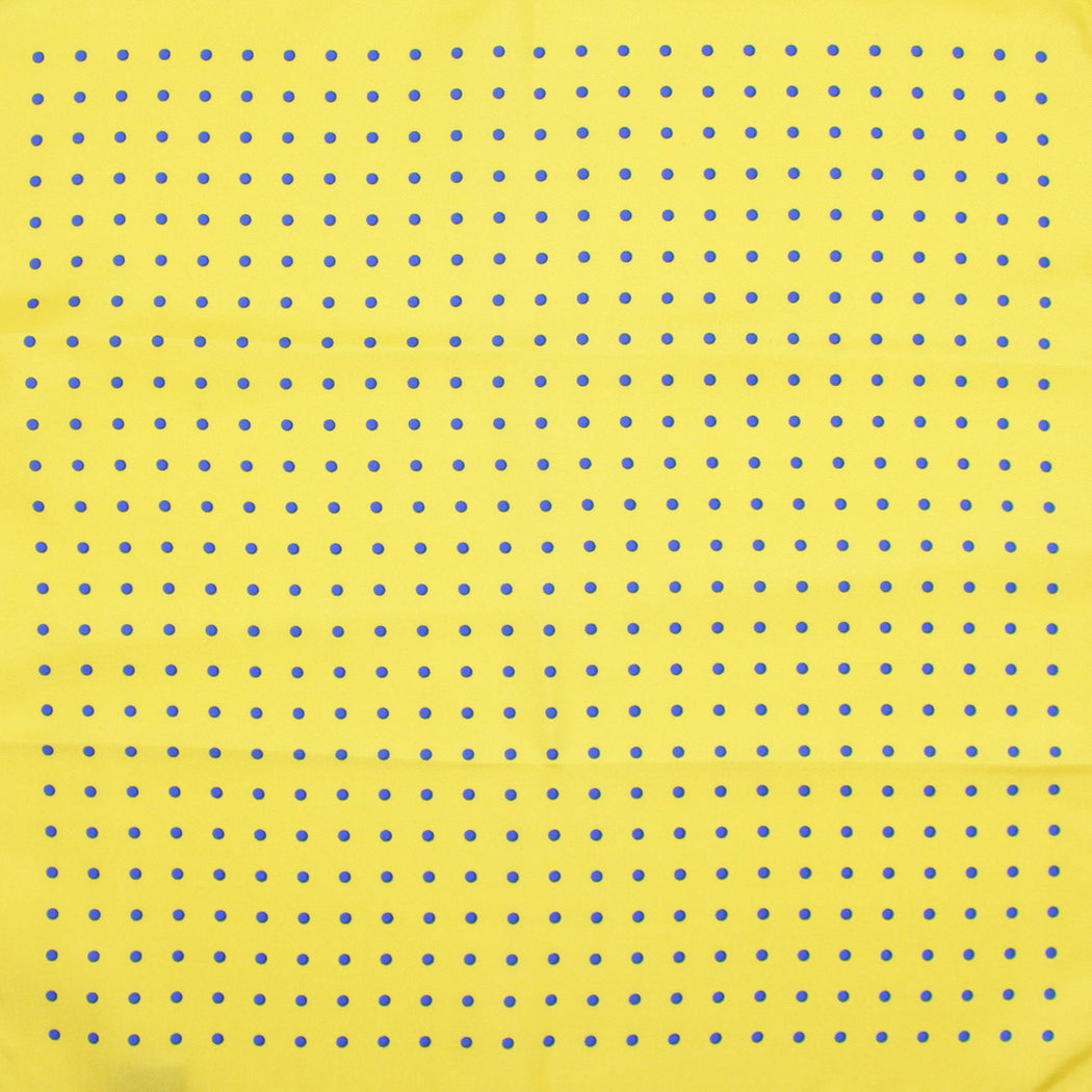 Yellow Polka Silk Pocket Square