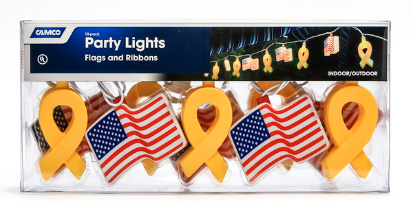 Patriotic Flags/Ribbons Party Lights