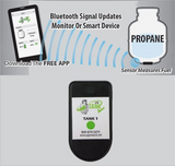 Propane Tank Bluetooth Gas Level Indicator - Dual Sensor with Monitor Kit