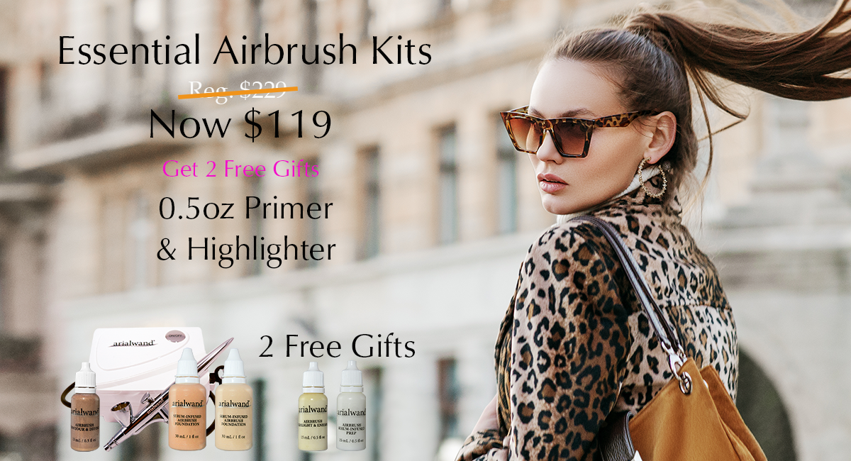 Arialwand Essential Airbrush Makeup Kit On Sale for $119.00 plus 2 free gifts