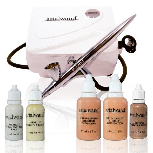 Arialwand Essential Airbrush Makeup Kit - TAN + 2 Free Gifts