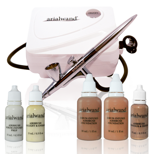 Arialwand Essential Airbrush Makeup Kit - DEEP + 2 Free Gifts