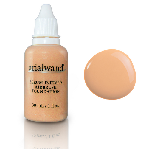 Arialwand Airbrush Foundation Makeup with Hyaluronic Acid and Peptides- Ivory 1 fl. oz.