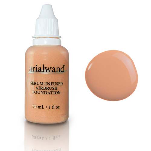 Arialwand Airbrush Foundation Makeup with Hyaluronic Acid and Peptides - Warm Beige 1 fl. oz.