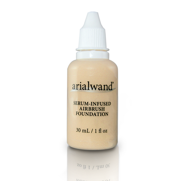 Arialwand Airbrush Foundation Makeup w/Hyaluronic Acid and Peptides DUO - Light 2- 1 fl. oz. bottles