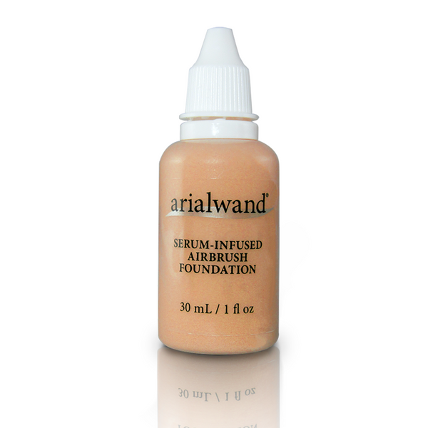 Arialwand Airbrush Foundation Makeup with Hyaluronic Acid and Peptides - Ivory Beige 1 fl. oz.