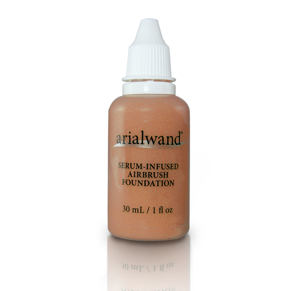Arialwand Airbrush Foundation Makeup with Hyaluronic Acid and Peptides - Mocha 1 fl. oz.