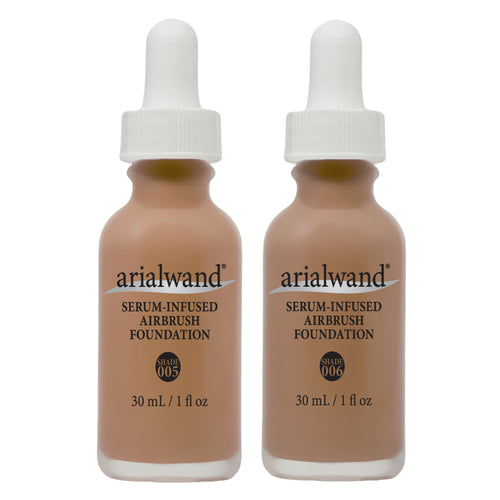 Arialwand Airbrush Foundation DUO - Tan Skin Tone with Hyaluronic Acid