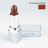 Shy Girl Color Changing Lip Stick Brown to Dark Brown