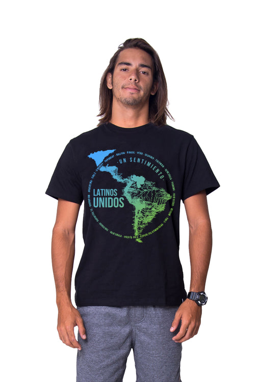 Latinos Unidos Black T-Shirt