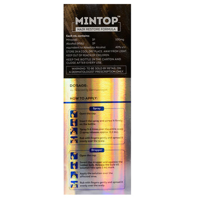 10% Mintop 120ml. 2 Month Supply Minoxidil Extra Strength Topical Solution.