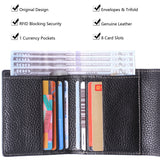 Alix Women's RFID Blocking Small Compact Bifold Leather Pocket Wallet Ladies Mini Purse Black BG1023 - Borgasets