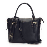 Mayar Women Genuine Leather Vintage Tote Shoulder Bag Top Handle Cross-body Handbag Key Chain - Borgasets