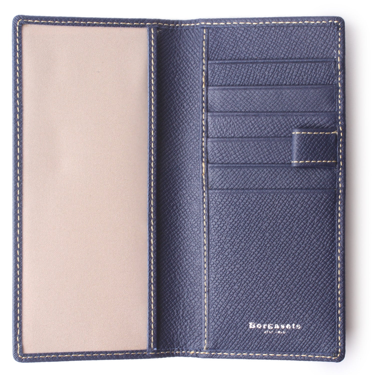 Leather Checkbook Cover For Men Women Checkbook Covers with Card Holder Wallet Blue - Borgasets