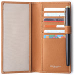 Leather Checkbook Cover For Men Women Checkbook Covers with Card Holder Wallet BG2255 Brown - Borgasets