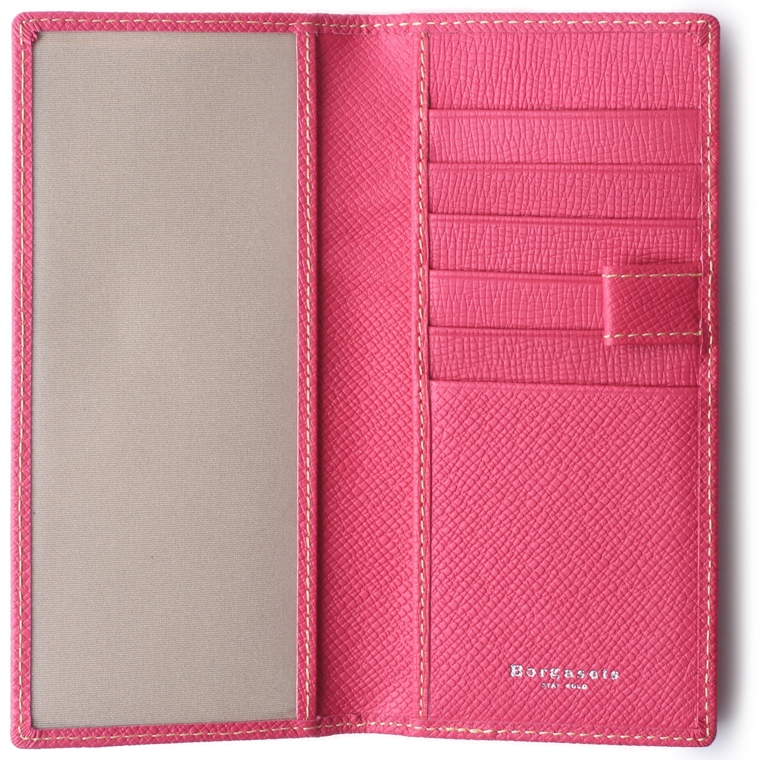 Leather Checkbook Cover For Men Women Checkbook Covers with Card Holder Wallet Pink - Borgasets