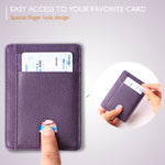 Slim Minimalist Front Pocket RFID Blocking Leather Wallets for Men & Women BG2288 Purple - Borgasets
