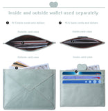 Slim Minimalist Cute Wallet, RFID Blocking Credit Card Holder, Front Pocket Leather ID Wallet Case for Women
