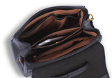 Santorini Cross-Body Messenger Bag Black - Borgasets