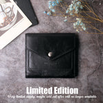 Small Leather Wallet for Women, RFID Blocking Women's Credit Card Holder Mini Bifold Pocket Purse BG1023 black - Borgasets