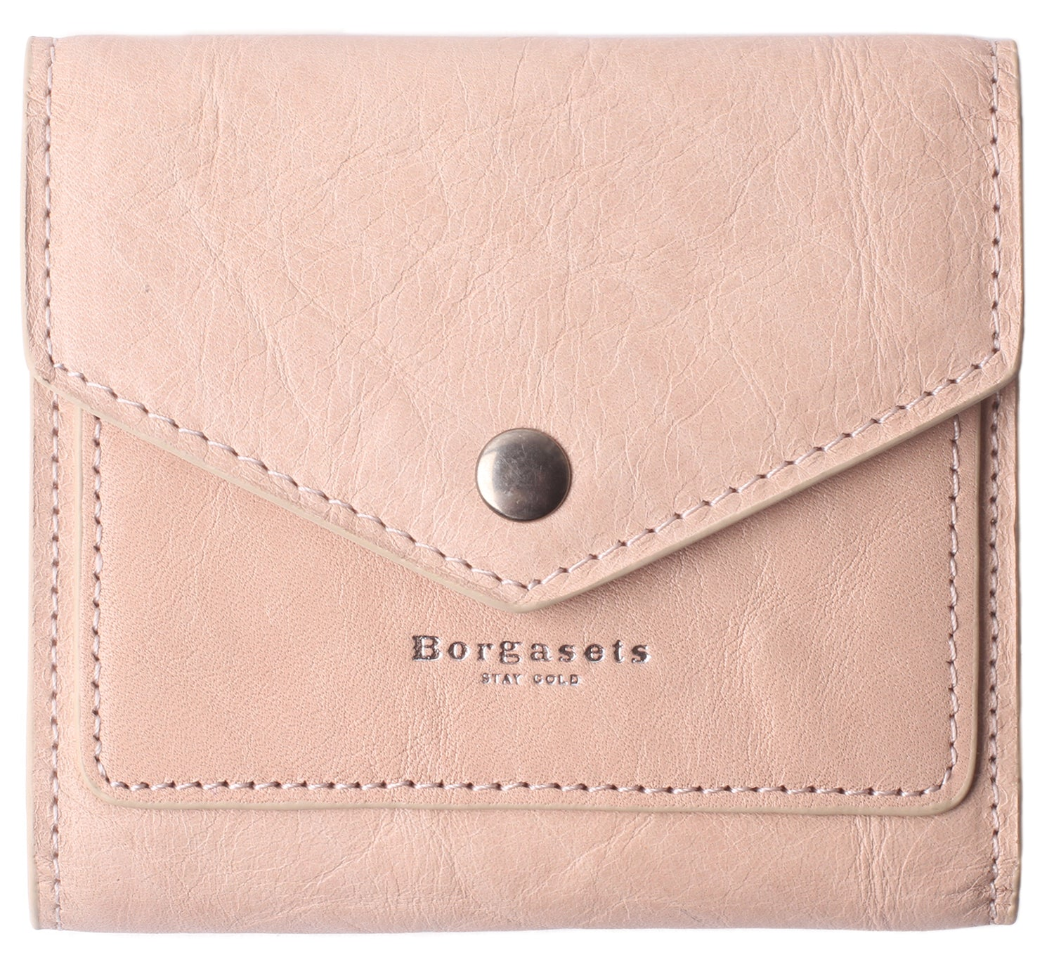 Small Leather Wallet for Women, RFID Blocking Women's Credit Card Holder Mini Bifold Pocket Purse BG1023 Ice Pink - Borgasets