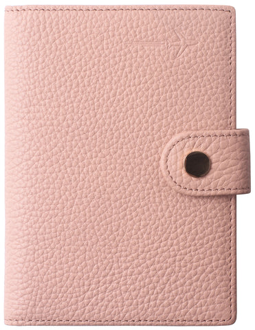 Leather Rfid Blocking Travel Passport Holder Cover Slim ID Card Case Wallet Crosshatch BG1233 Limited Pink - Borgasets
