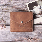 Small Leather Wallet for Women, RFID Blocking Women's Credit Card Holder Mini Bifold Pocket Purse BG1023 Vintage Brown - Borgasets