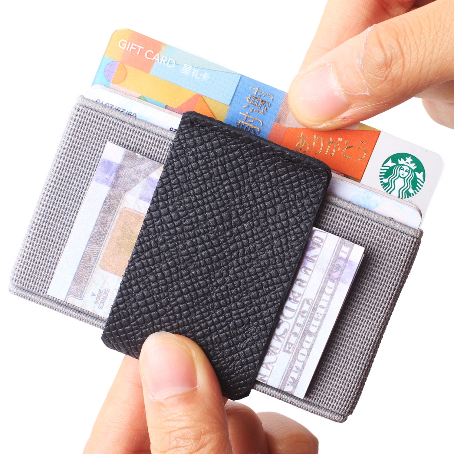 Slim Wallet Front Pocket Minimalist Thin Credit Card Holder Mini Size Men and Women Black - Borgasets