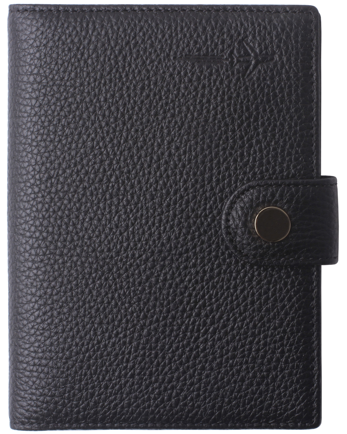 Leather Rfid Blocking Travel Passport Holder Cover Slim ID Card Case Wallet Crosshatch BG1233 Limited Black - Borgasets