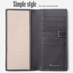 Leather Checkbook Cover For Men Women Checkbook Covers with Card Holder Wallet BG2255 Limited Black - Borgasets
