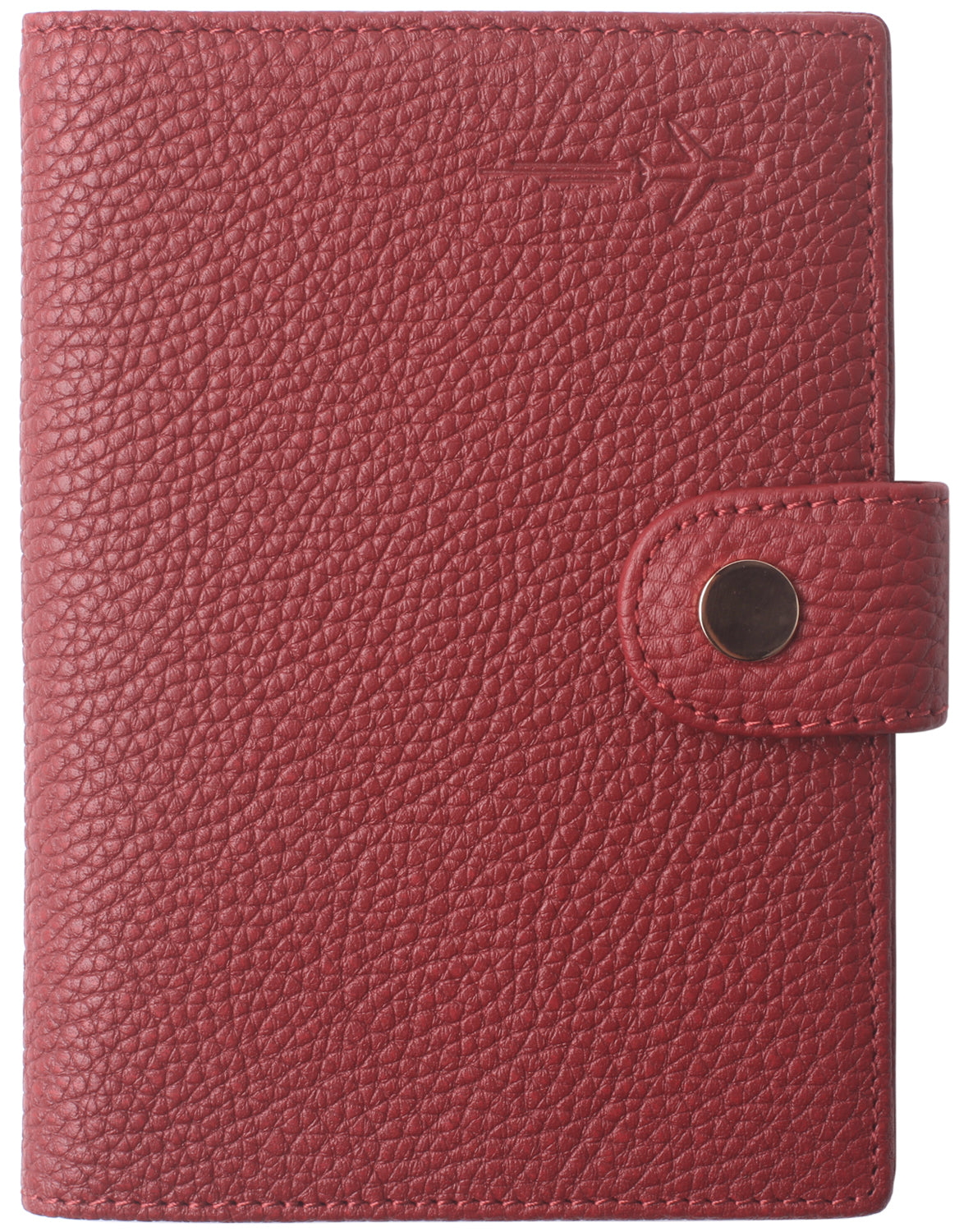Leather Rfid Blocking Travel Passport Holder Cover Slim ID Card Case Wallet Crosshatch BG1233 Limited Red - Borgasets