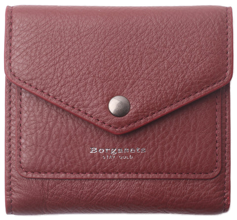 Small Leather Wallet for Women, RFID Blocking Women's Credit Card Holder Mini Bifold Pocket Purse BG1023 Limited Red - Borgasets