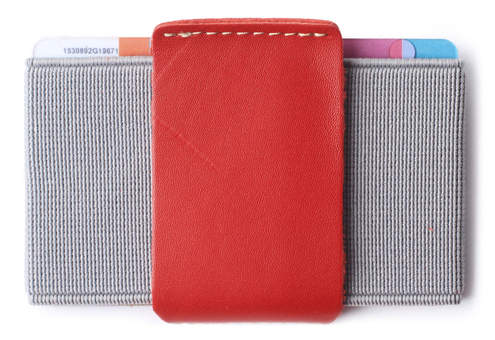 Slim Wallet Front Pocket Minimalist Thin Credit Card Holder Mini Size Men and Women Red - Borgasets