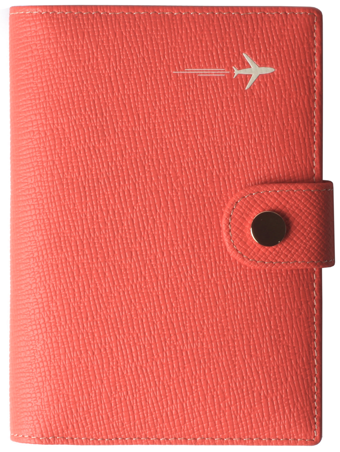 Leather Rfid Blocking Travel Passport Holder Cover Slim ID Card Case Wallet Crosshatch BG1233 Red - Borgasets