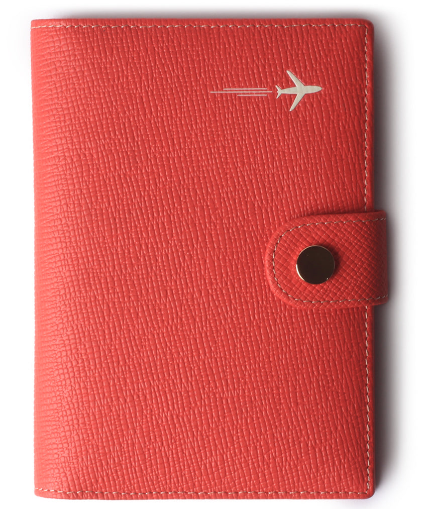 Leather Rfid Blocking Travel Passport Holder Cover Slim ID Card Case Wallet Red - Borgasets
