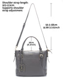 Horseshoe Womens Vintage Tote Shoulder Bag Top Handle Crossbody Handbags Large Capacity With Key Chain Grey - Borgasets