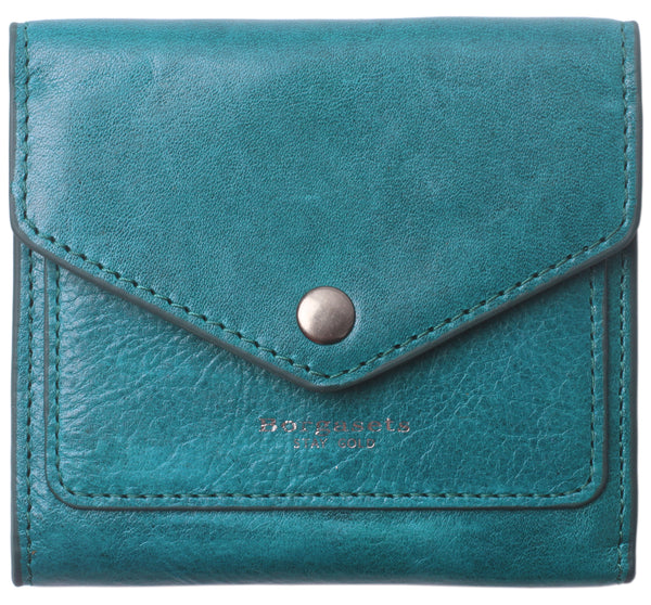 Small Leather Wallet for Women, RFID Blocking Women's Credit Card Holder Mini Bifold Pocket Purse BG1023 limited edition-ice peacock blue - Borgasets