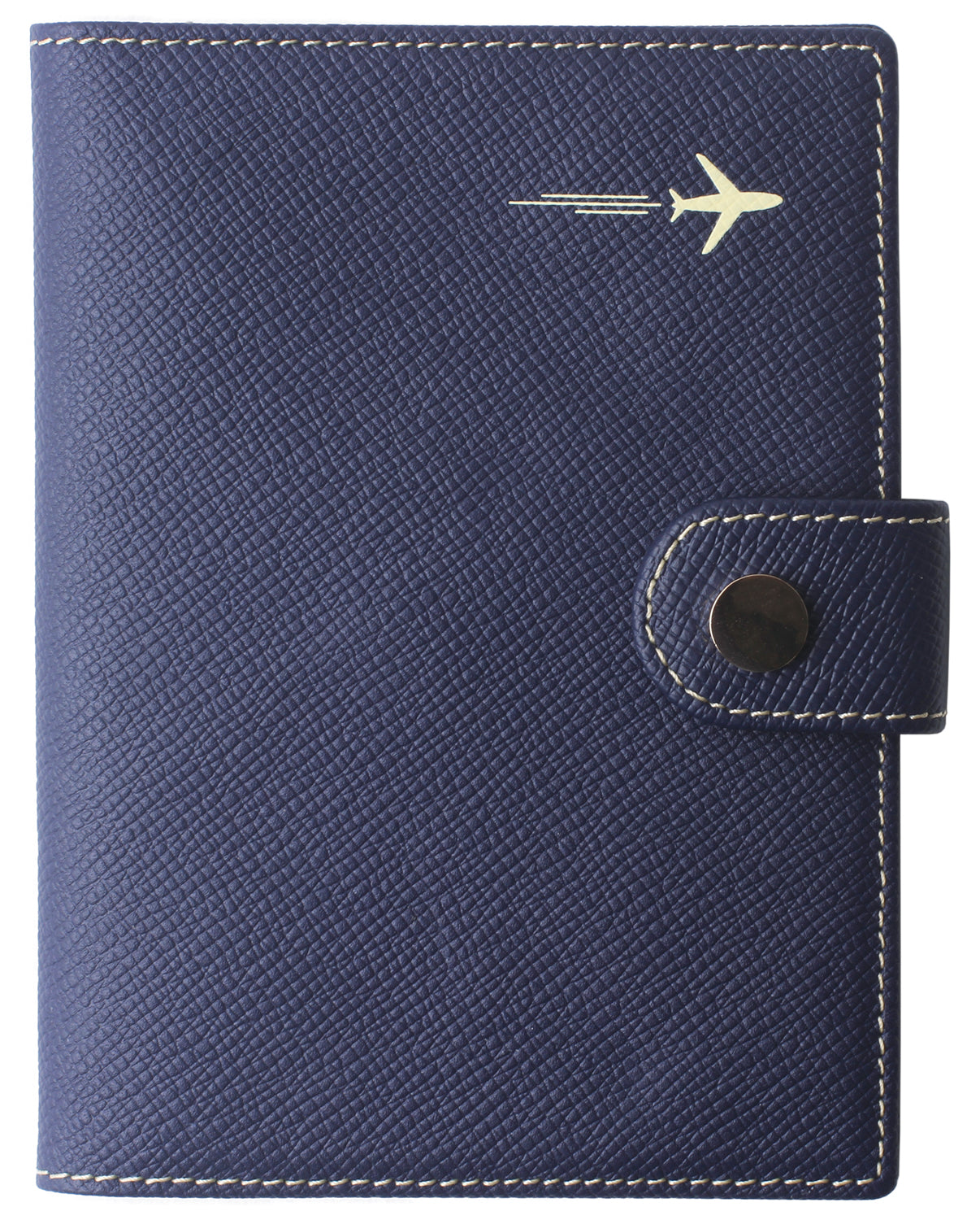 Leather Rfid Blocking Travel Passport Holder Cover Slim ID Card Case Wallet Crosshatch BG1233 Blue - Borgasets