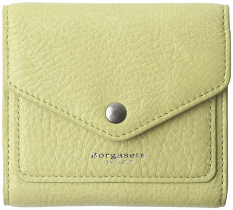 Small Leather Wallet for Women, RFID Blocking Women's Credit Card Holder Mini Bifold Pocket Purse BG1023 green - Borgasets