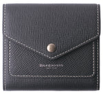 Small Leather Wallet for Women, RFID Blocking Women's Credit Card Holder Mini Bifold Pocket Purse BG1023 Crosshatch Black - Borgasets