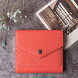 Small Leather Wallet for Women, RFID Blocking Women's Credit Card Holder Mini Bifold Pocket Purse BG1023 Crosshatch Red - Borgasets