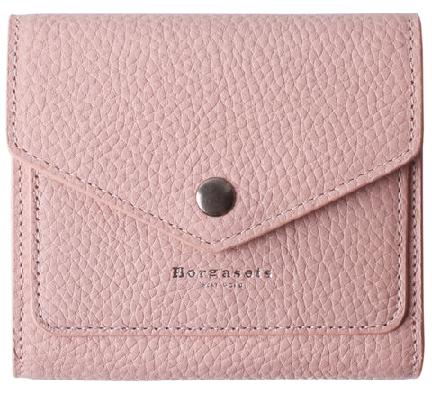Small Leather Wallet for Women, RFID Blocking Women's Credit Card Holder Mini Bifold Pocket Purse BG1023 Limited Edition Pink - Borgasets